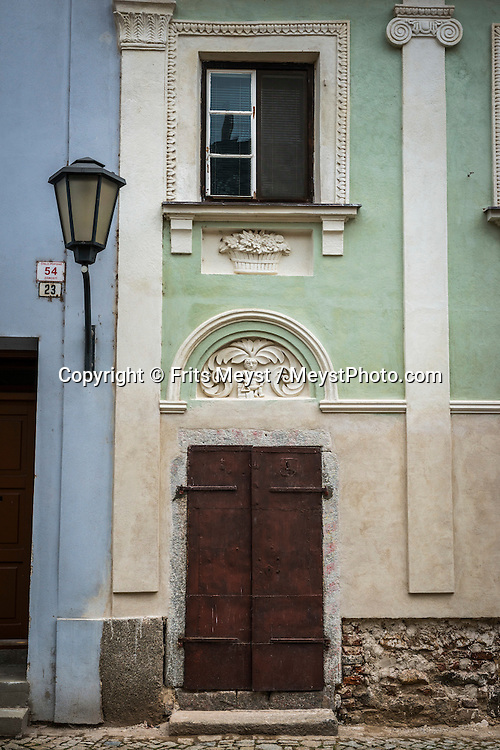 Trebic, Moravia, Czech Republic, September 2015. Třebíč, the town of UNESCO monuments is situated in West Moravia, on the southeast tip of the Vysočina region. Třebíč lies on both banks of the river Jihlava. The beginnings of the town are connected to a remarkable Benedictine monastery which was founded by Moravian princes in 1101. Owing to the rich history of the town, visitors can admire a lot of valuable monuments; the most notable ones, the Basilica of St. Procopius , the Jewish Quarter and the Jewish Cemetery are included in the prestigious UNESCO's list of world cultural and natural heritage.  Moravia is most famous for its wine,  rolling hills and pretty landscapes. Photo by Frits Meyst / MeystPhoto.com