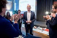 17 NOV 2018, POTSDAM/GERMANY:<br /> Dietmar Woidke, SPD, Ministerpraesident Brandenburg, nach der Bekanntgabe des Wahlergebnisses bei der Wahl zum Landesvorsitzenden, Landesprateitag der SPD Brandenburg, Kongresshotel Potsdam am Templiner See<br /> IMAGE: 20181117-01-051