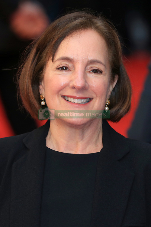 attends The Guernsey Literary and Potato Peel Pie Society world premiere at the Curzon Mayfair in London, UK. 09 Apr 2018 Pictured: Paula Mazur. Photo credit: Fred Duval / MEGA TheMegaAgency.com +1 888 505 6342