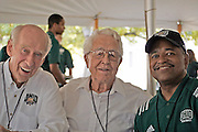 98-year-old alum, Dennis Morris, who was photographed with Dr. McDavis and Tad Grover that day...President's Tent for the Sept. 24 football game