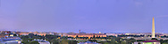 Panoramic View of Washington, DC.  Includes The Capitol, Washington Monument, Smithsonian Mall, The White House, among other Washington, DC landmarks and Washington, DC Monuments..Print Sizes (inches): 15x4; 24x6.5; 36x10; 48x12.5; 60x16; 72x19