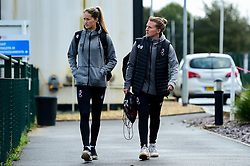 Georgia Wilson and Frankie Brown of Bristol City arrives at SGS College Stoke Gifford Stadium prior to kick off - Mandatory by-line: Ryan Hiscott/JMP - 29/09/2019 - FOOTBALL - SGS College Stoke Gifford Stadium - Bristol, England - Bristol City Women v Chelsea Women - FA Women's Super League
