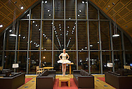 Classic ballerina at Kroon Hall building, home of Forestry and Environmental Science Program at Yale University.