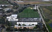 May 3, 2019; Alameda, CA, USA; General overall aerial view of Oakland Raiders practice facility during rookie minicamp.