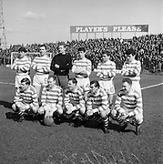 02/04/1966<br /> 04/02/1966<br /> 02 April 1966<br /> Shamrock Rovers v Waterford, F.A.I. Cup Semi-final at Dalymount Park, Dublin. The Shamrock Rovers team.