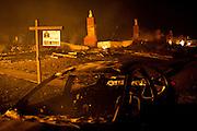 SAN BRUNO, CA - SEPTEMBER 9: The scene of a fire September 9, 2010 in a San Bruno, California residential street. A massive explosion rocked a neighborhood near San Francisco International Airport.