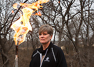 Sharon WIlson, who calls herself a fracking insurgent, standing next to a gas vent on Steven Lispky's well in Weatherford Texas that was contaminated by fracking done by Eagle Ridge Energy.
