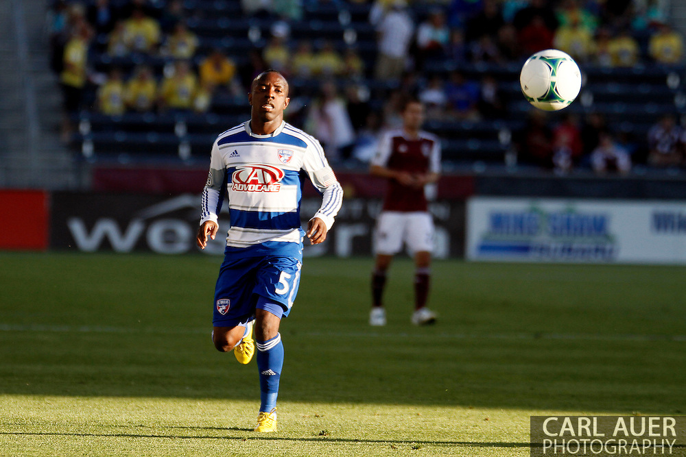 June 1st, 2013 - FC Dallas defender Jair Benitez (5) runs after the ballin the first half of action in the MLS match between FC Dallas and the Colorado Rapids at Dick's Sporting Goods Park in Commerce City, CO