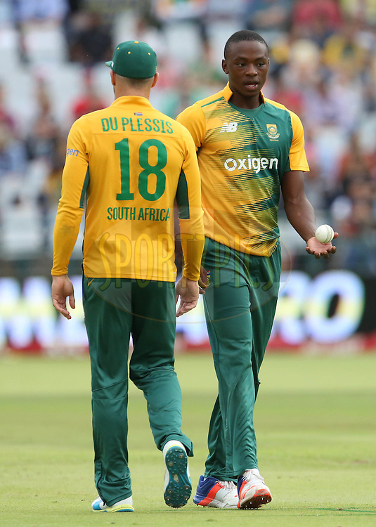 Kigali Rabada during the First KFC T20 Match between South Africa and England played at Newlands Stadium, Cape Town, South Africa on February 19th 2016