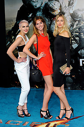 European premiere of Pacific Rim.<br /> Sophie Ellison, Naomi Pelkiewicz and Emily Garner attends the European premiere of 'Pacific Rim' at The BFI IMAX<br /> London, United Kingdom<br /> Thursday, 4th July 2013<br /> Picture by Chris  Joseph / i-Images