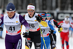 31.12.2011, DKB-Ski-ARENA, Oberhof, GER, Viessmann Tour de Ski 2011, FIS Langlauf Weltcup, Verfolgung Damen, im Bild Masako Ishida (JPN), Katrin Zeller (GER) // during pursuit Women of Viessmann Tour de Ski 2011 FIS World Cup Cross Country at DKB-SKI-Arena Oberhof, Germany on 2011/12/31. EXPA Pictures © 2011, PhotoCredit: EXPA/ nph/ Hessland..***** ATTENTION - OUT OF GER, CRO *****