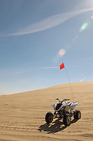 Quad bike in sand