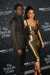 March 26, 2019 - Hollywood, California, U.S - March 26, 2019 - Hollywood, California, U.S. - DAMSON IDRIS and SANAA LATHAN pose upon arrival for the premiere of The Twilight Zone (Credit Image: © Alexander Seyum/ZUMA Wire)