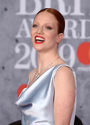 Jess Glynne attending the Brit Awards 2019 at the O2 Arena, London. Photo credit should read: Doug Peters/EMPICS. EDITORIAL USE ONLY