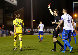 Stuart Sinclair of Bristol Rovers receives his second yellow card and is sent off  - Mandatory by-line: Matt McNulty/JMP - 14/03/2017 - FOOTBALL - Gigg Lane - Bury, England - Bury v Bristol Rovers - Sky Bet League One