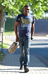 01.07.2015, Weserstadion, Bremen, GER, 1. FBL, SV Werder Bremen, Trainingsauftakt, im Bild Cedrick Makiadi (SV Werder Bremen #6) auf dem Weg vom Parkplatz zur Kabine // during a Trainingssession of German Bundesliga Club SV Werder Bremen at the Weserstadion in Bremen, Germany on 2015/07/01. EXPA Pictures &copy; 2015, PhotoCredit: EXPA/ Andreas Gumz<br /> <br /> *****ATTENTION - OUT of GER*****