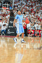 North Carolina guard Nate Britt. <br /> <br /> The University of Louisville hosted University of North Carolina, Saturday, Jan. 31, 2015 at KFC YUM Center in the Louisville. Louisville won 78-68.  <br /> <br /> Photo by Jonathan Palmer