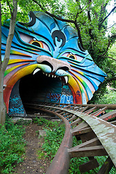 Abandoned former amusement park at Spreepark in Berlin Germany