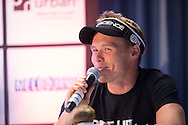 Andrew Reid From Bondi Rescue. Ironman Melbourne Press Conference. Ironman Melbourne Triathlon. Asia Pacific Championship. URBAN HOTEL, St Kilda, Melbourne, Victoria, Australia. 22/03/2013. Photo By Lucas Wroe