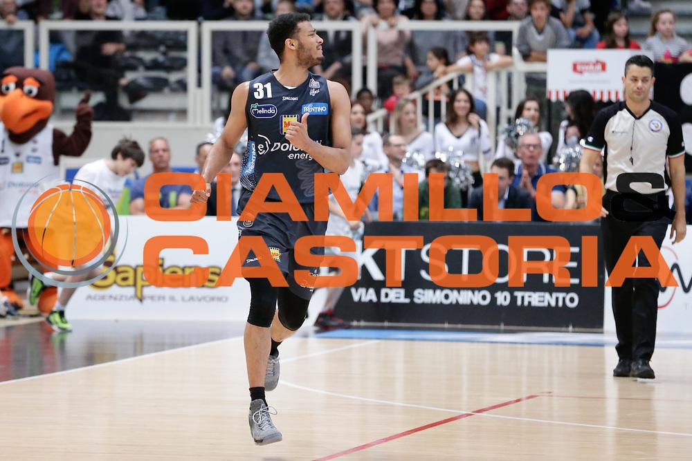 Shavon Shields<br /> Dolomiti Energia Aquila Basket Trento - Germani Basket Brescia Leonessa<br /> Lega Basket Serie A 2016/2017<br /> PalaTrento, 23/04/2017<br /> Foto Ciamillo-Castoria / M. Brondi