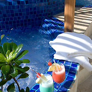 Beverages on Jacuzzi. Cancun, Quintana Roo. Mexico