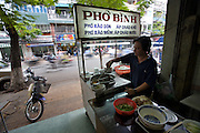 Pho Binh noodle soup shop, the secret Vietcong headquarters before and during the 1968 Tet offensive in the Vietnam war.