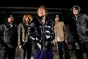 Portraits of the Japanese band Dir en grey, photographed on November 23, 2008 by music photographer Todd Owyoung