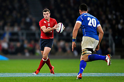 George Ford of England in possession - Photo mandatory by-line: Patrick Khachfe/JMP - Mobile: 07966 386802 22/11/2014 - SPORT - RUGBY UNION - London - Twickenham Stadium - England v Samoa - QBE Internationals