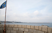 View from the James Joyce Martello tower in Sandycove Dublin Ireland