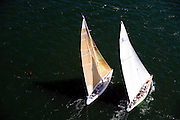 12 Meter Class Columbia and Enterprise racing at the Museum of Yachting Classic Yacht Regatta