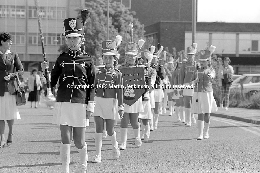 Worksop Allstars Jazz Band, Yorkshire Miners Gala. 1986 Doncaster.