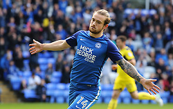 Jack Marriott of Peterborough United wheels away to celebrate after scoring the opening goal of the game - Mandatory by-line: Joe Dent/JMP - 30/09/2017 - FOOTBALL - ABAX Stadium - Peterborough, England - Peterborough United v Oxford United - Sky Bet League One