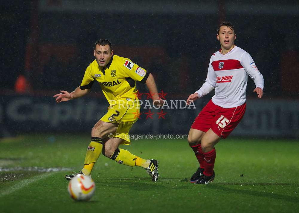 STEVENAGE, ENGLAND - Saturday, November 24, 2012: Tranmere Rovers' Danny Holmes in action against Stevenage during the Football League One match at Broadhall Way. (Pic by David Rawcliffe/Propaganda)