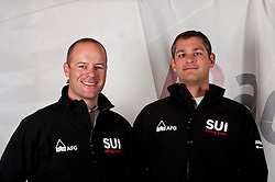 Palma March 2011 Swiss Sailing Team portraits photoshooting Flavio Marazzi left star class and Enricco De Maria right