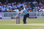 Tammy Beaumont of England (12) batting during the Royal London Women's One Day International match between England Women Cricket and Australia at the Fischer County Ground, Grace Road, Leicester, United Kingdom on 4 July 2019.