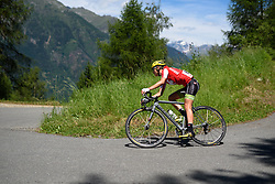 Doris Schweizer (Cylance Pro Cycling) on the descent to Tirano at Giro Rosa 2016 - Stage 5. A 77.5 km road race from Grosio to Tirano, Italy on July 6th 2016.