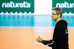 26-11-2015 SLO: Champions League Calcit Ljubljana - VakifBank Istanbul, Ljubljana<br /> Gasper Ribic, head coach of Calcit Ljubljana <br /> <br /> ***NETHERLANDS ONLY***