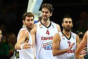 DESCRIZIONE : Kaunas Lithuania Lituania Eurobasket Men 2011 Quarter Final Round Spagna Slovenia Spain Slovenia<br /> GIOCATORE : Pau Gasol Juan Carlos Navarro<br /> CATEGORIA : esultanza<br /> SQUADRA : Spagna Spain <br /> EVENTO : Eurobasket Men 2011<br /> GARA : Spagna Slovenia Spain Slovenia<br /> DATA : 14/09/2011<br /> SPORT : Pallacanestro <br /> AUTORE : Agenzia Ciamillo-Castoria/G.Matthaios<br /> Galleria : Eurobasket Men 2011<br /> Fotonotizia : Kaunas Lithuania Lituania Eurobasket Men 2011 Quarter Final Round Spagna Slovenia Spain Slovenia<br /> Predefinita :
