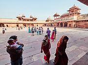 India, Uttar Pradesh. Fatehpur Sikri. Jodha Bai's (Jodhbai's) Palace.