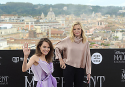 US actress Angelina Jolie and US actress Michelle Pfeiffer attend a photocall for the European premiere of Disney's dark fantasy adventure film 'Maleficent : Mistress of Evil' on October 7, 2019 in Rome, Italy. Photo by ABACAPRESS.COM