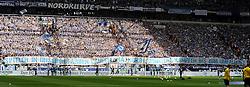 10.04.2016, Veltins Arena, Gelsenkirchen, GER, 1. FBL, Schalke 04 vs Borussia Dortmund, 29. Runde, im Bild Bnanner in der Schalker Nordkurve : Spieler in unseren Farben laufen, graetschen sprinten & kaempfen bis zum umfallen !!! ( Schalke 04 ) // during the German Bundesliga 29th round match between Schalke 04 and Borussia Dortmund at the Veltins Arena in Gelsenkirchen, Germany on 2016/04/10. EXPA Pictures © 2016, PhotoCredit: EXPA/ Eibner-Pressefoto/ Thienel<br /> <br /> *****ATTENTION - OUT of GER*****