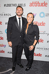 EDITORIAL USE ONLY<br /> Ben Cohen (left) and Julien MacDonald attend the 2016 Attitude Award the 2016 Attitude Awards in association with Virgin Holidays, at 8 Northumberland Avenue, London.