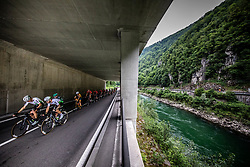 Lars Bak Ytting (DEN) of Team Dimension Data and Giacomo Nizzolo (ITA) of Team Dimension Data during 1st Stage of 26th Tour of Slovenia 2019 cycling race between Ljubljana and Rogaska Slatina (171 km), on June 19, 2019 in  Slovenia. Photo by Vid Ponikvar / Sportida