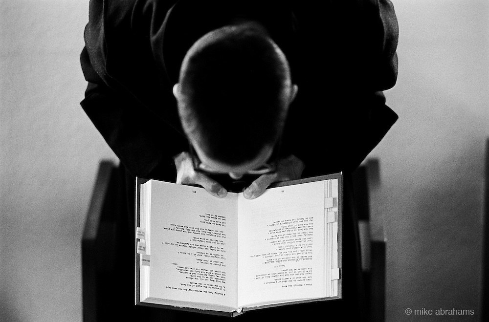 Monks at prayer at the Monastery of the Holy Trinity, Crawley Down, West Sussex. England
