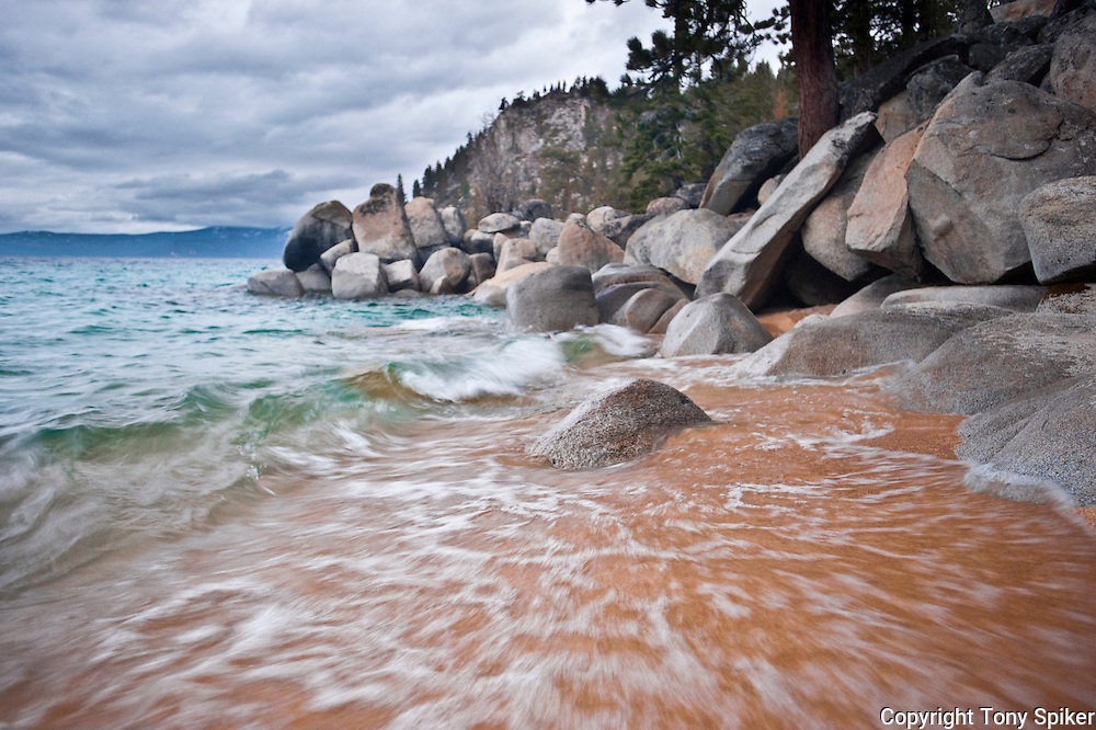 """Skunk Harbor 3"" - A storm rolls in at Skunk Harbor, on Lake Tahoe's Eastern Shore."