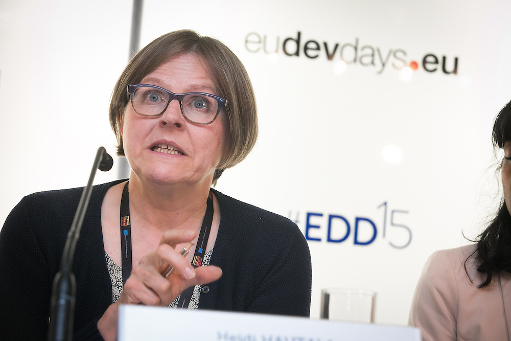 03 June 2015 - Belgium - Brussels - European Development Days - EDD - Health - Access to sexual and reproductive health and rights - A prerequisite for youth economic empowerment - Heidi Hautala , Former Minister for International Development , Finland-President , Green European Foundation © European Union