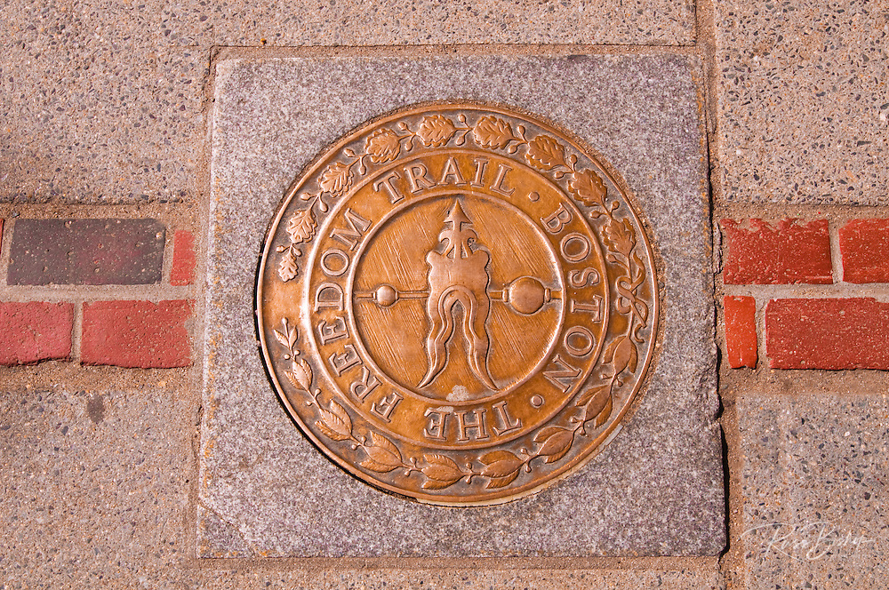 Plaque on the Freedom Trail, Boston, Massachusetts