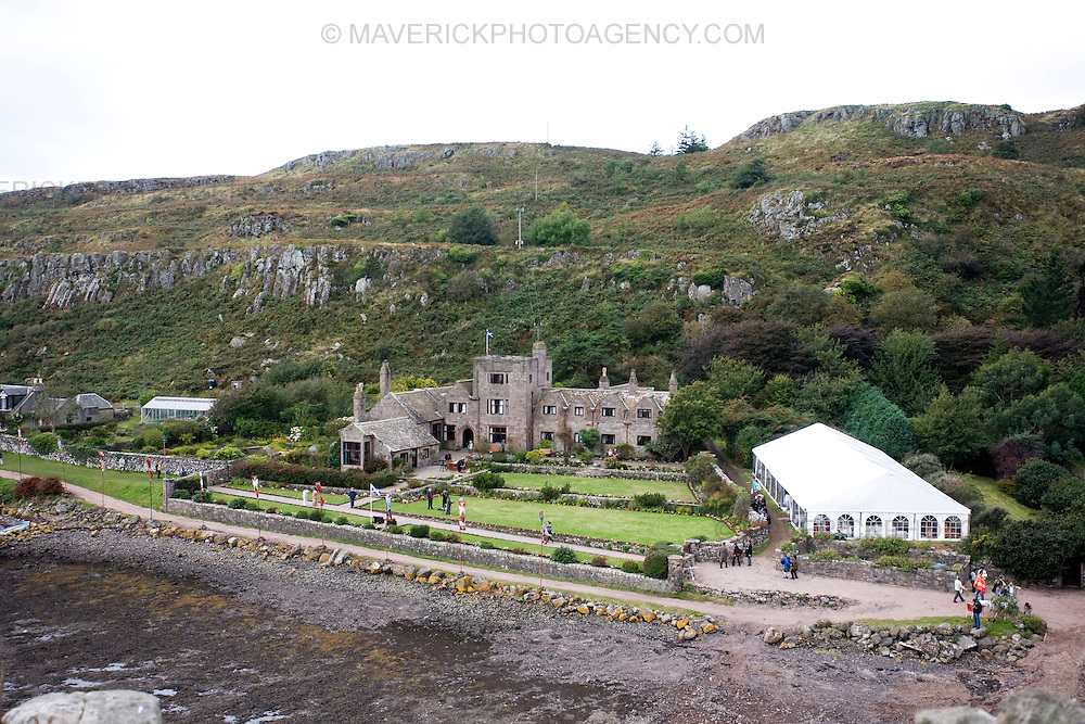General View of Yoga Island...The worlds leading Yoga expert Swami Ji, co-founder of the Patanjali Yog Peeth Trust opens Scotlands new Yoga Island..Over a thousand people  joined in the 'Hawan' celebrations on the island of Little Cumbrae. ..Picture Michael Hughes/Maverick 27/9/09...i