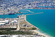 Port of Haifa, Israel. Aerial View