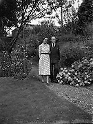 Erskine Childers, minister for Posts and Telegraphs with finance, Miss Rita Dudley<br /> 22/08/1952<br /> <br /> Erskine Hamilton Childers (11/12/1905 – 17/11/1974) served as the fourth President of Ireland from 1973 until his death in 1974.  He was a TD from 1938 until 1973. He was appointed Tánaiste in 1969.<br />